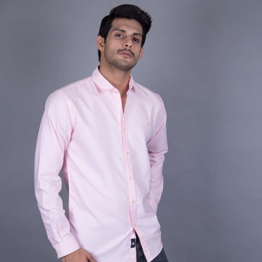 Casual Shirt - Charlie-I Pink Textured