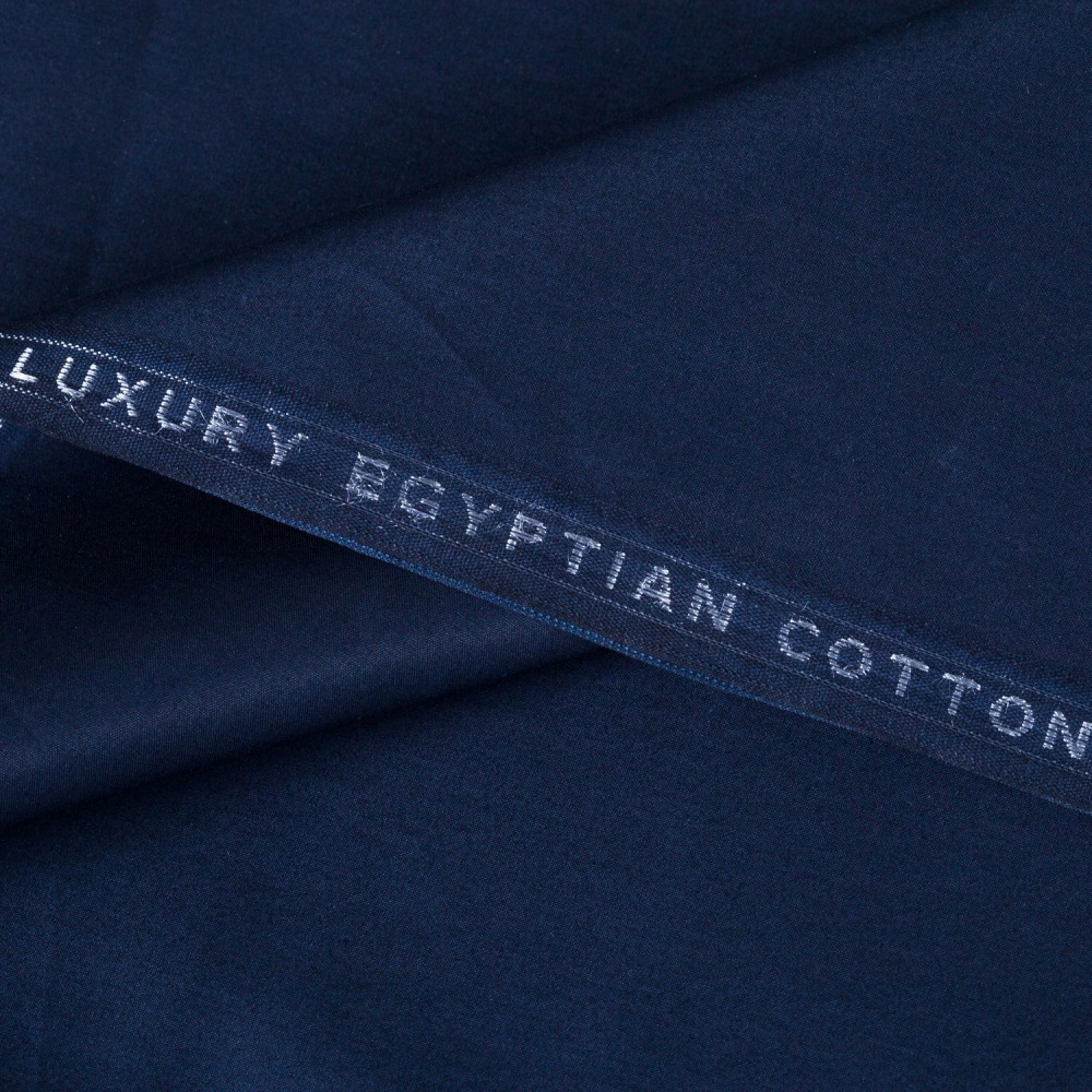 Plain Navy Blue Luxury Egyptian Cotton
