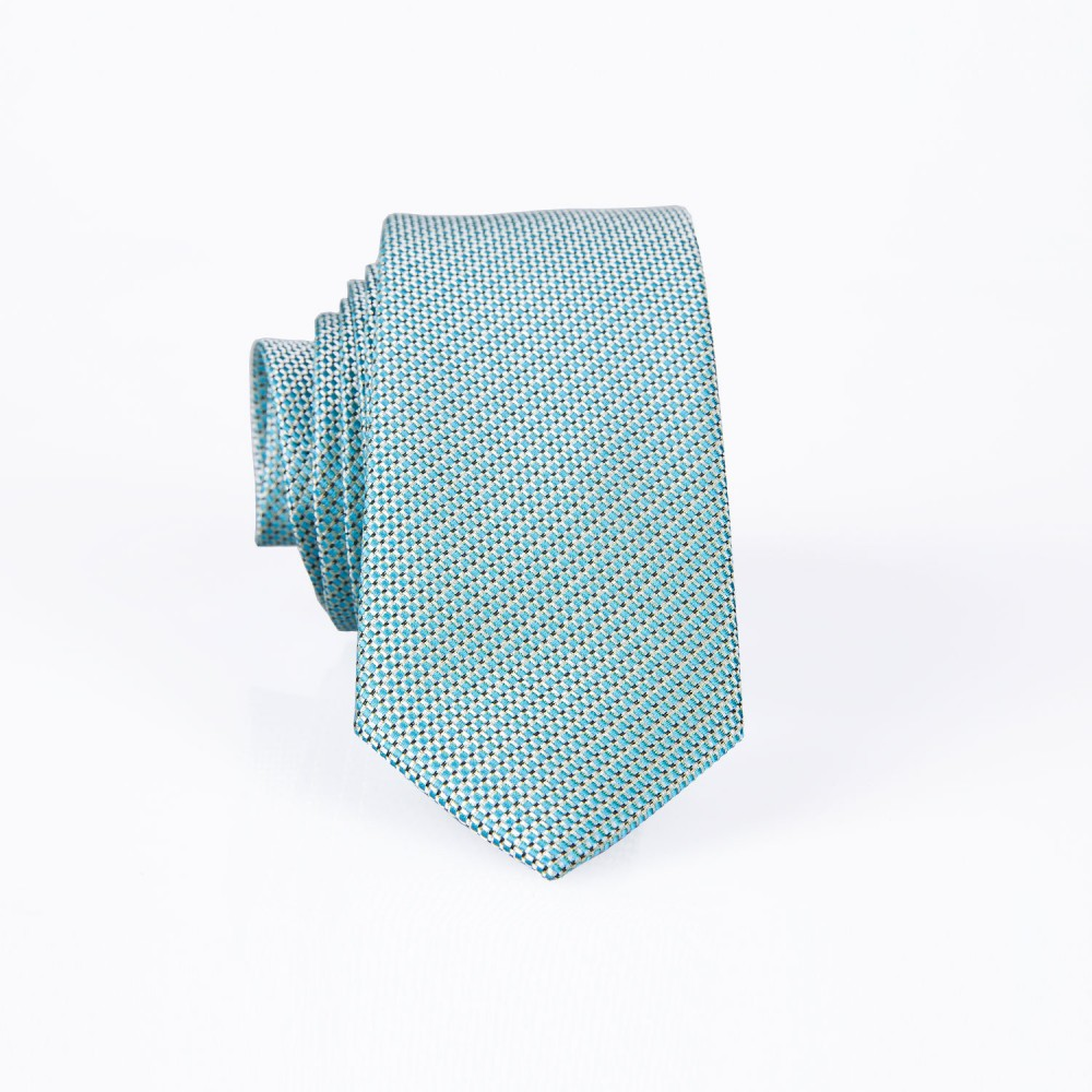 Geometric Pattern, Green Silk Rich Tie