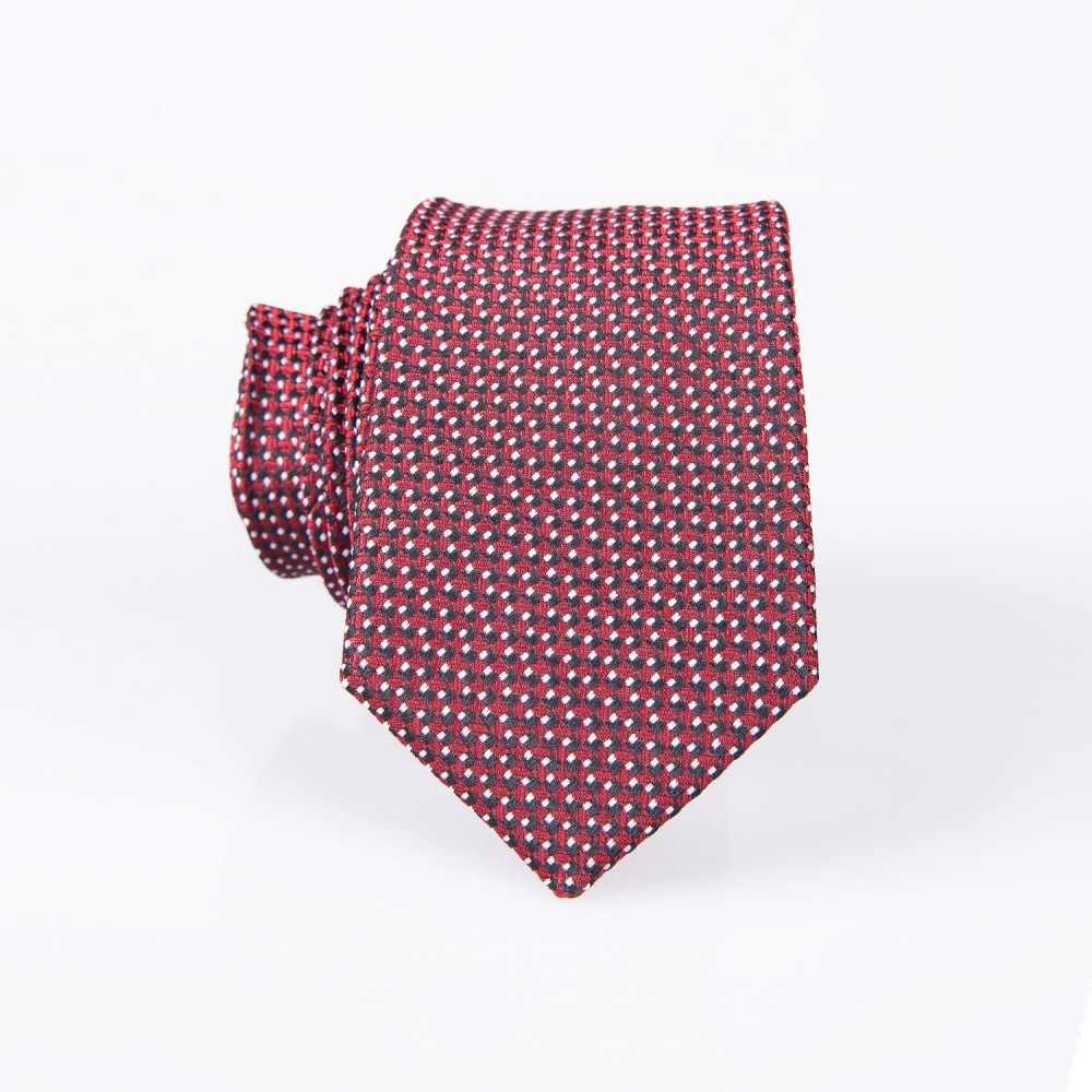 Geometric Pattern, Maroon Silk Rich Tie