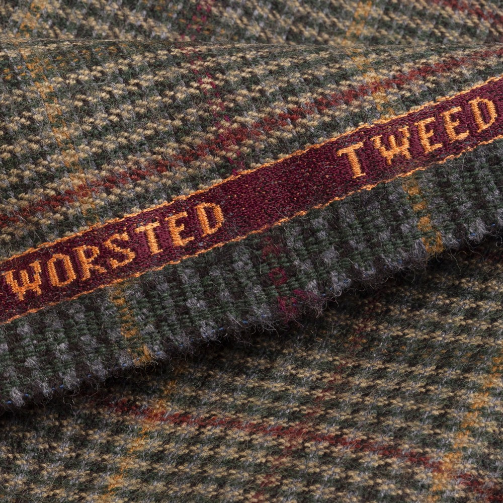 Multi Check Worsted Tweed