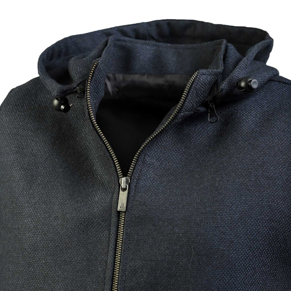 Blue Design, Wool Rich - Worsted Tweed High Neck Sleeveless Hoodies