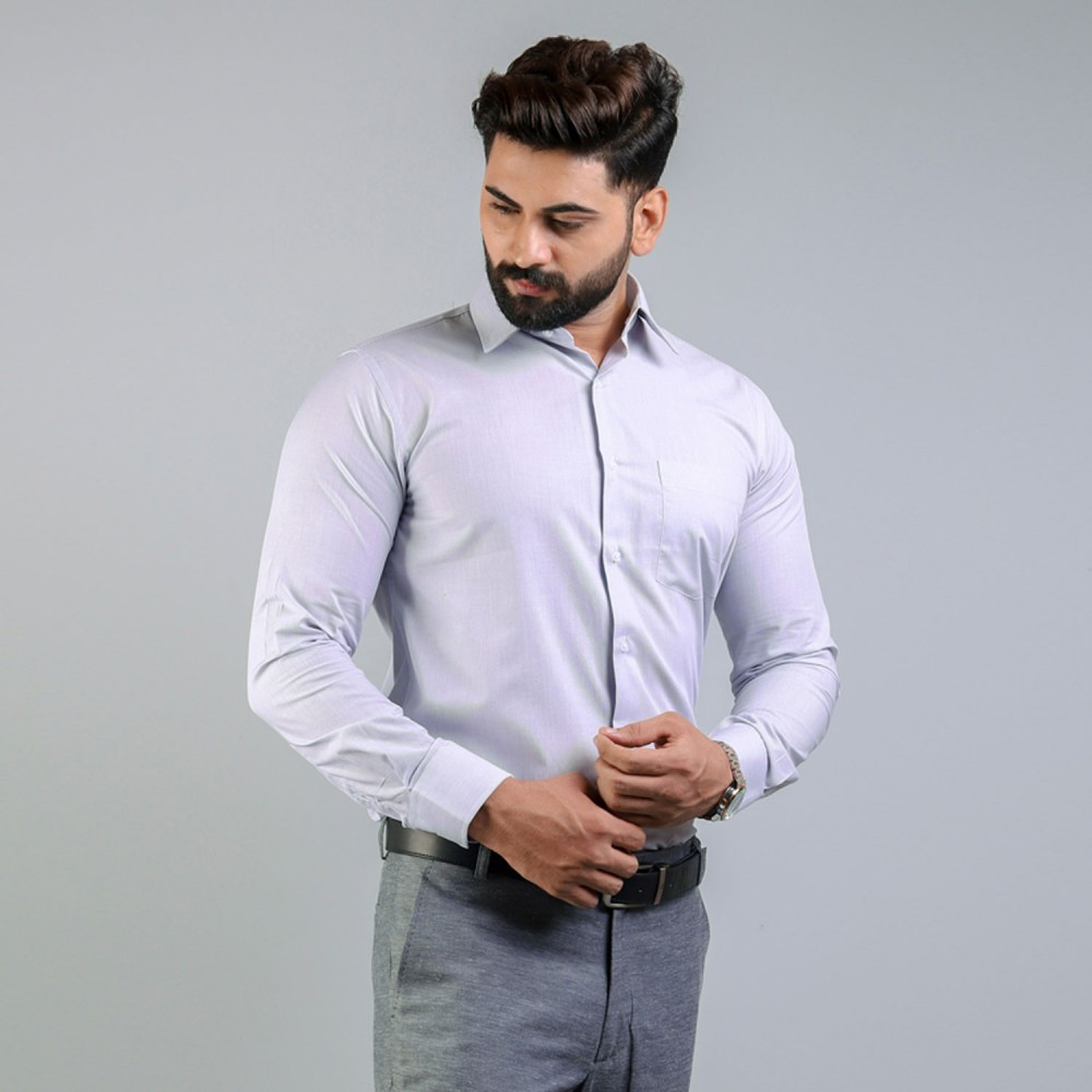 Dark Grey HairLine Stripes Formal Shirt
