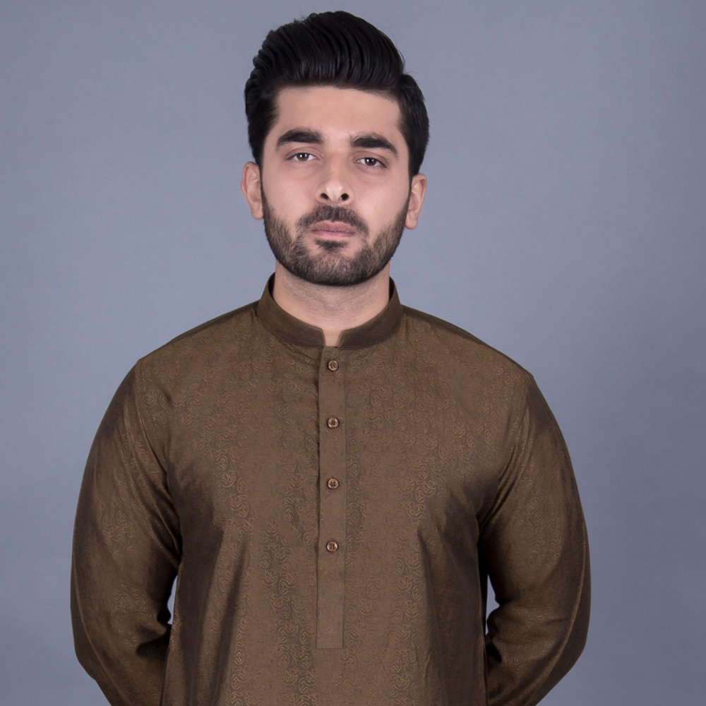 Kurta - Jamawar Green Design