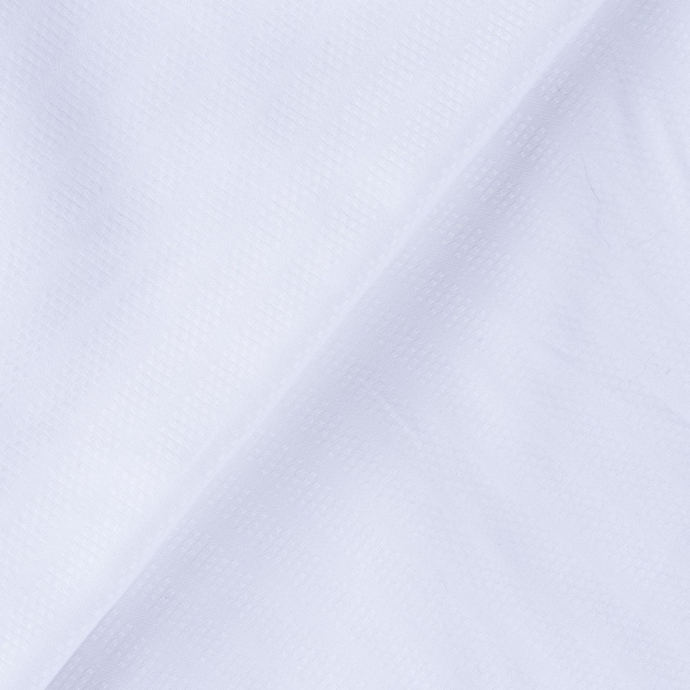 Self Textured White, 100% Super Fine Cotton Shirting Fabric