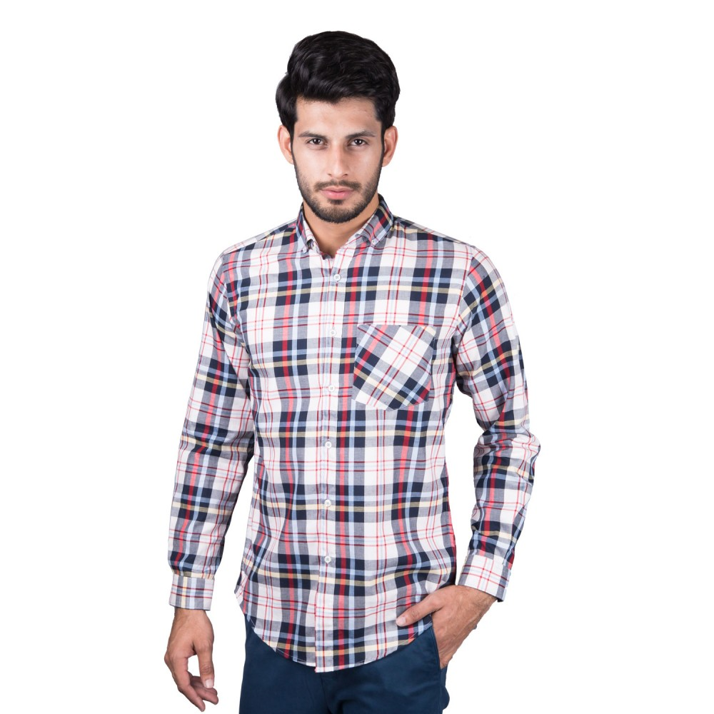 Casual Shirt - Charlie-I Blue, Red, Yellow, Multi Checks