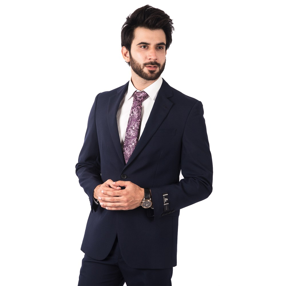 Suit Tropical Classic (P) Dark Blue Plain - Regular