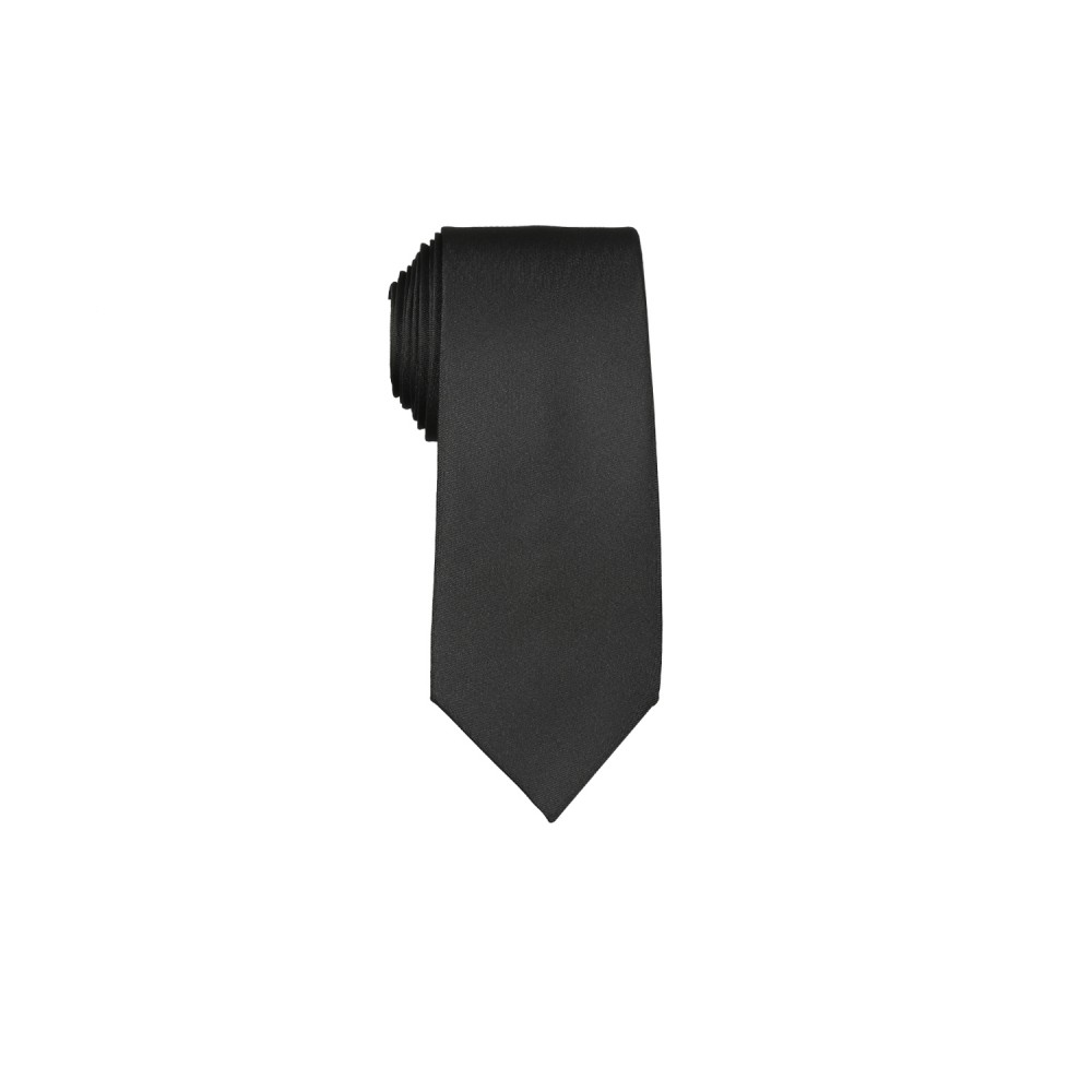 Ties - Satin Black Plain