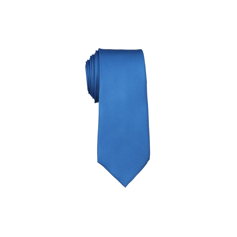 Ties - Satin Navy Plain
