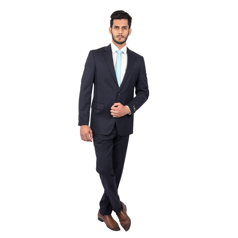 Suit Dedum Blue Plain - Slim