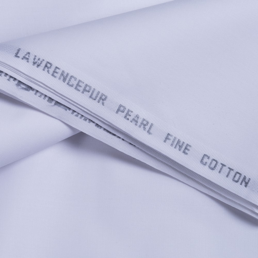 Plain White Pearl Fine Cotton Fabric